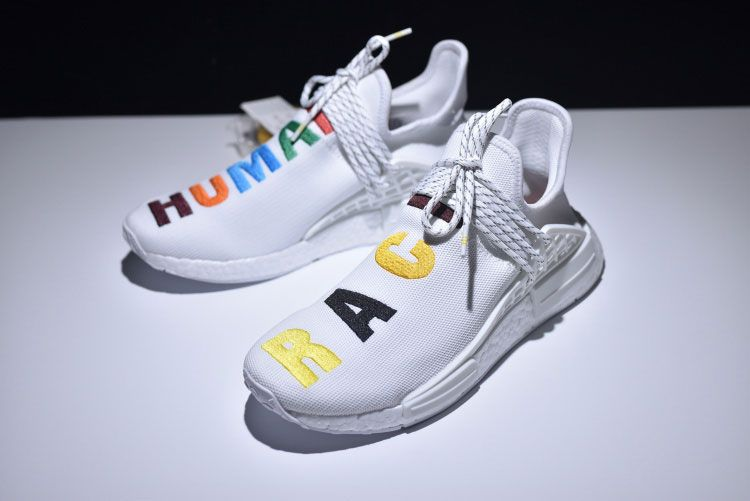598b716e9 Limited Adidas Nmd Pharrell Williams Human Race Birthday Sneakers White