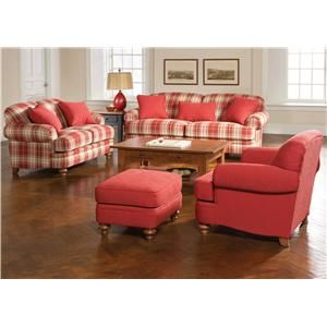 Red Plaid For The Sitting Room