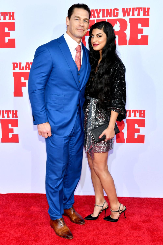 John Cena Girlfriend Shay Shariatzadeh Make Red Carpet Debut Pics John Cena Celebrity Red Carpet Celebrities