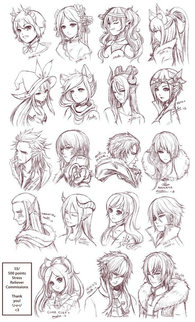 Female Anime Hair Reference  Kumpulan Soal pelajaran 10