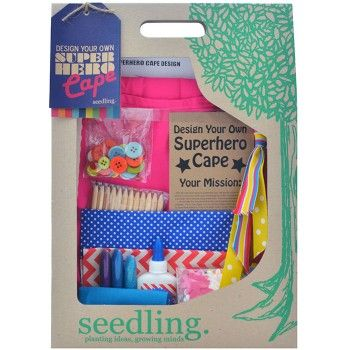 The Seedling Design Your Own Superhero Cape in Pink is a fun and creative craft kit that kids are sure to love. With this fun kit, kids can design, decorate and wear their very own superhero cape, saving the day in style.