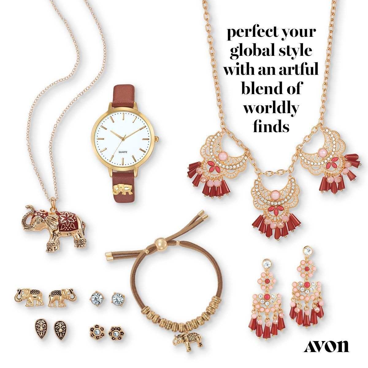 Perfect your global style with this jewelry from Avon! your global style with this jewelry from Avon!