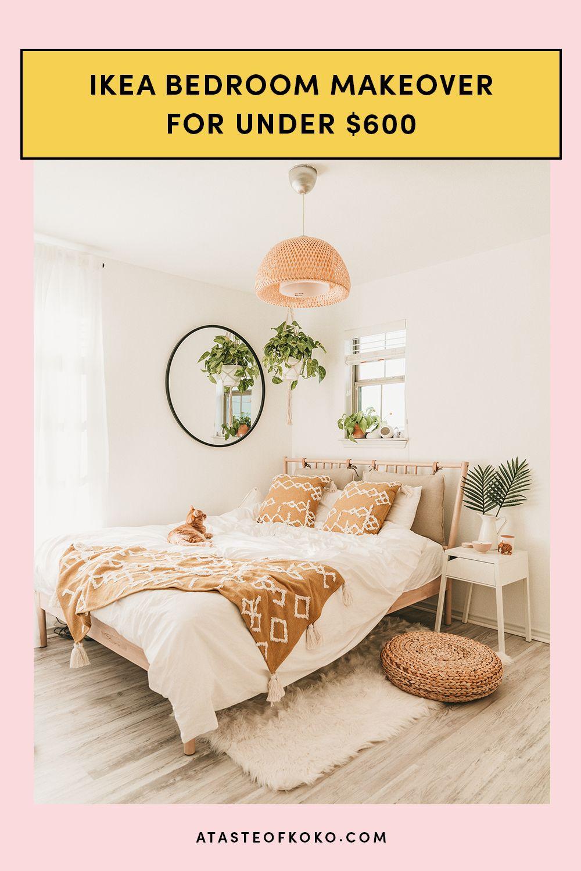 IKEA Bedroom Makeover For Under $3  Ikea bedroom, Bedroom