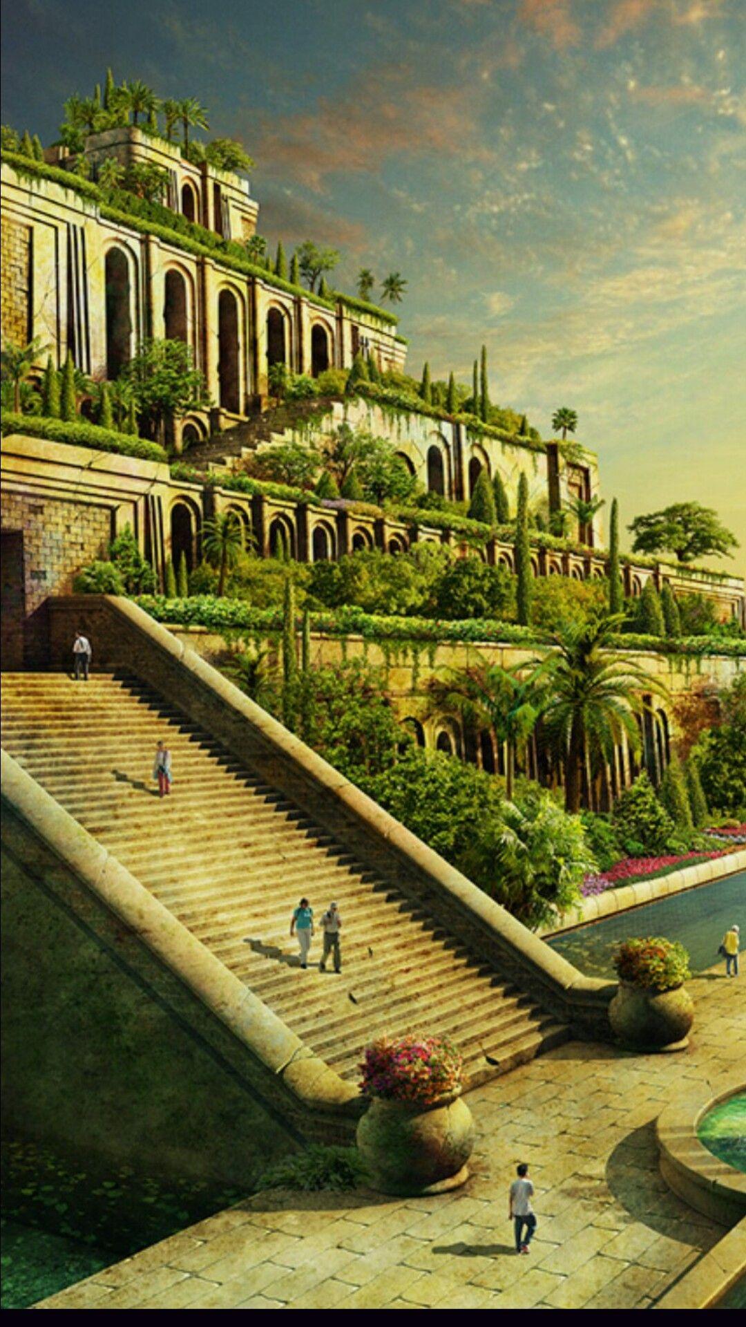 Hanging Gardens Of Babylon Fantasy Landscape Gardens Of Babylon Fantasy City