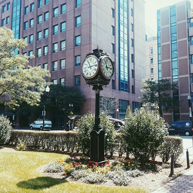 Campus clock from BU Medical Sciences area where I will be pursuing my MA in Pathology in the fall. Boston here I come! Bye beautiful Erie PA! by morganlivesyogaa