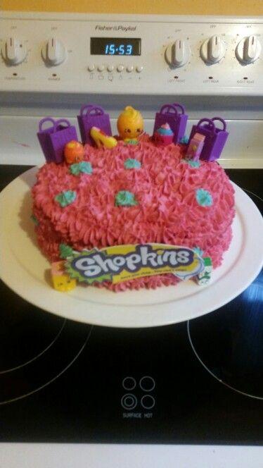 Shopkins pinata cake