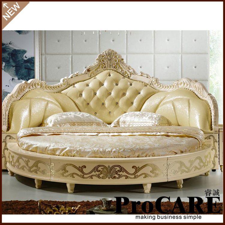 Betten Modernen Europäischen Elegante Edle Stil Kingsize-bett Runden Preis