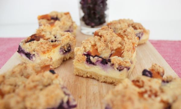 Line backt: Shortbread Blueberry Cheesecake: