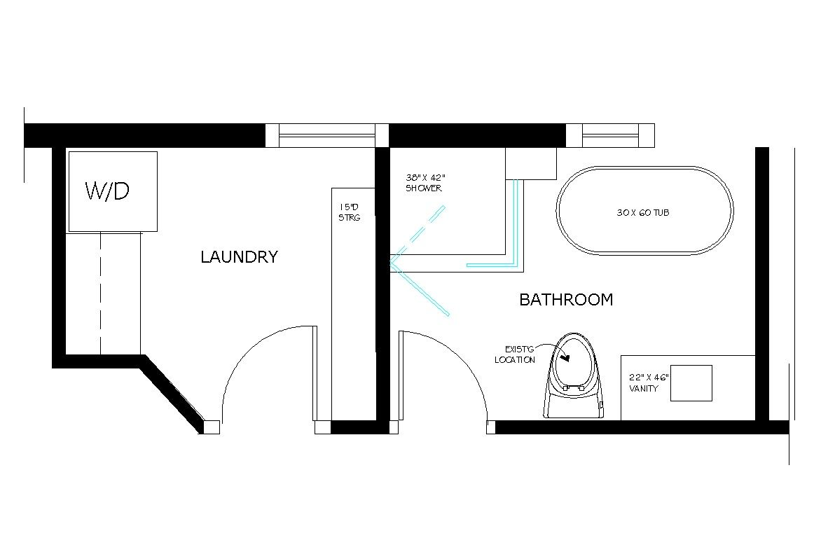 Floor plan for 10 x 10 utility room closet remodeling for Small bathroom floor plans