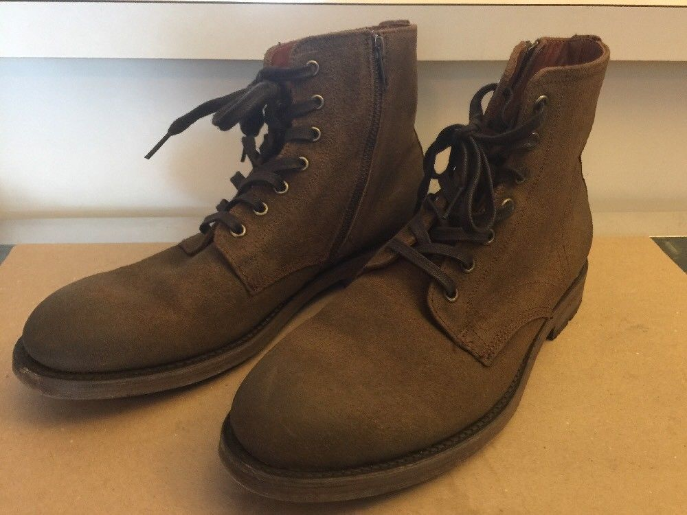 9099621bc0b FRYE Mens Boots size 8D Bowery Lace up Zipper Combat Ankle Boot ...