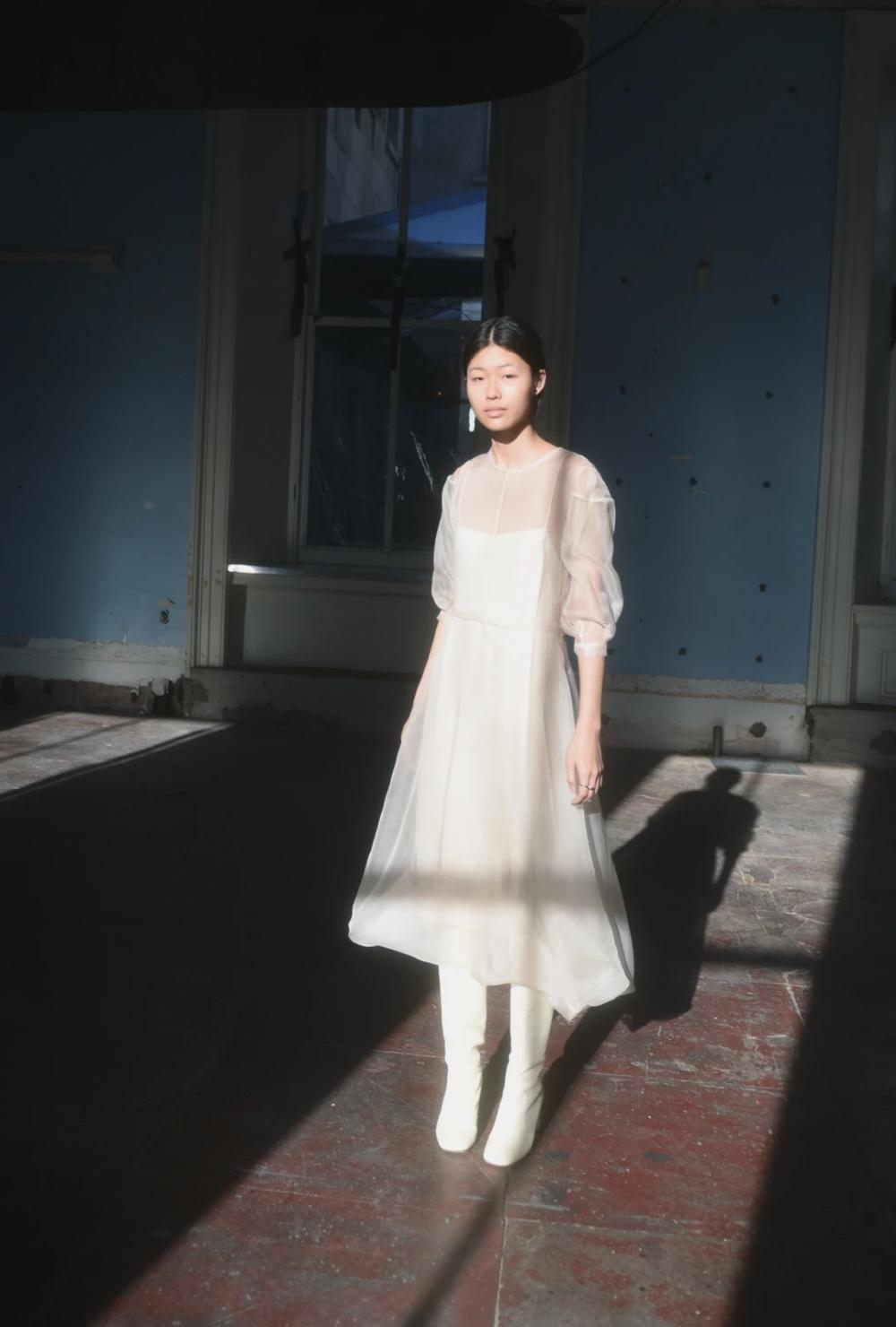 STENT DRESS | SILK ORGANZA | IVORY (PRE-ORDER) – Kamperett