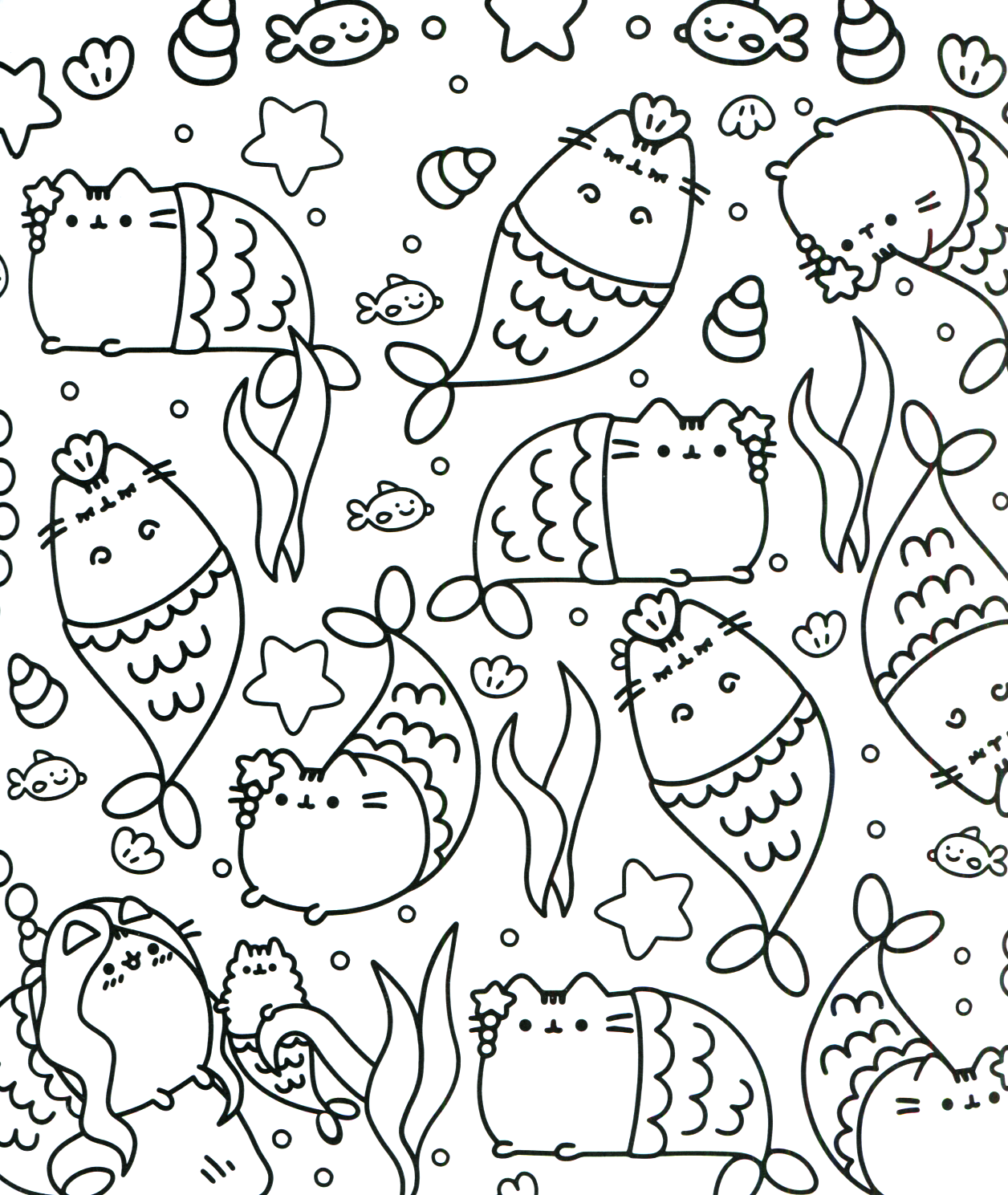 Pusheen Coloring Book Pusheen Pusheen The Cat Pusheen Coloring Pages Mermaid Coloring Pages Unicorn Coloring Pages