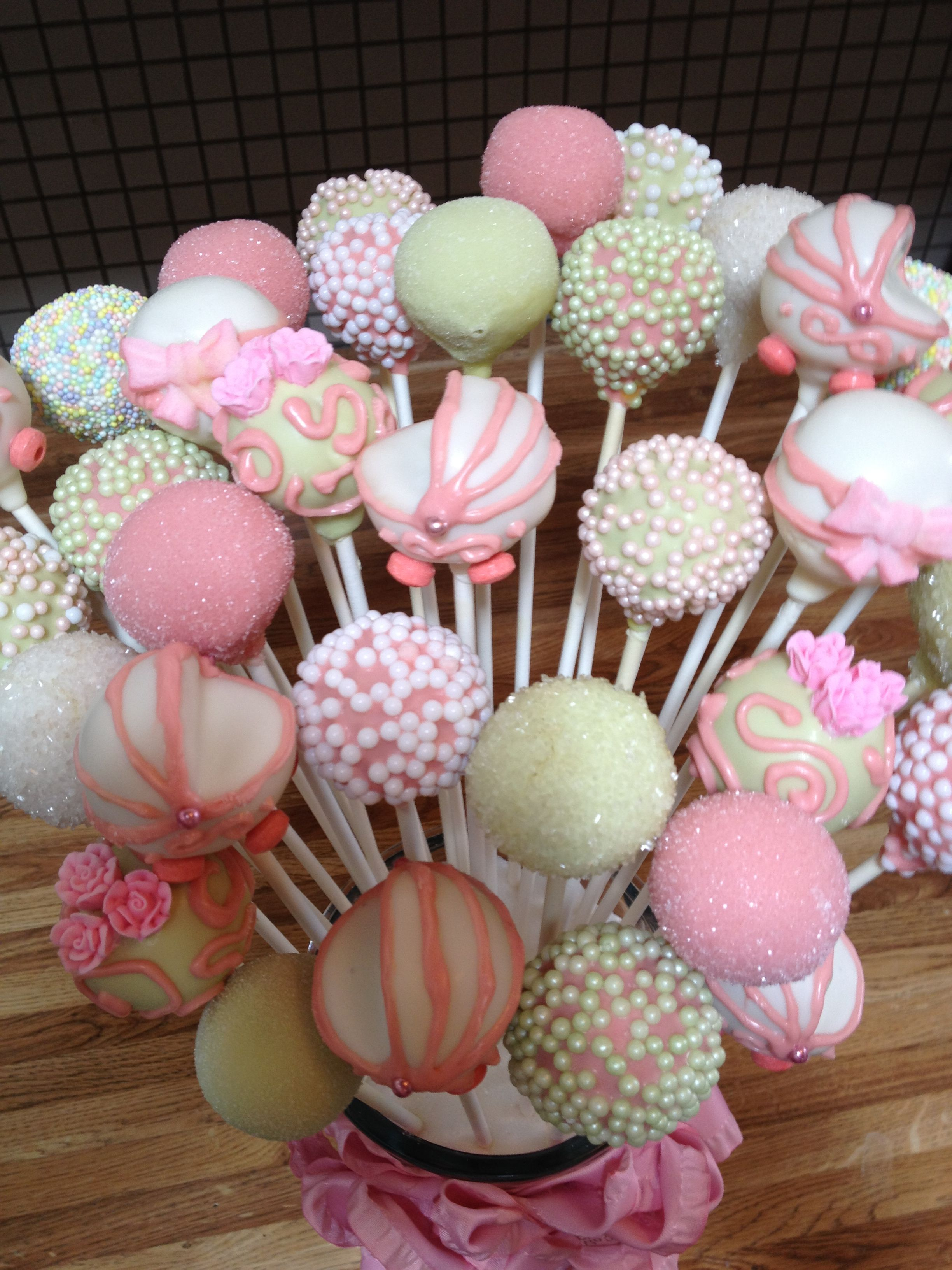 Baby shower cake pop bouquet by susan oliver baby cake