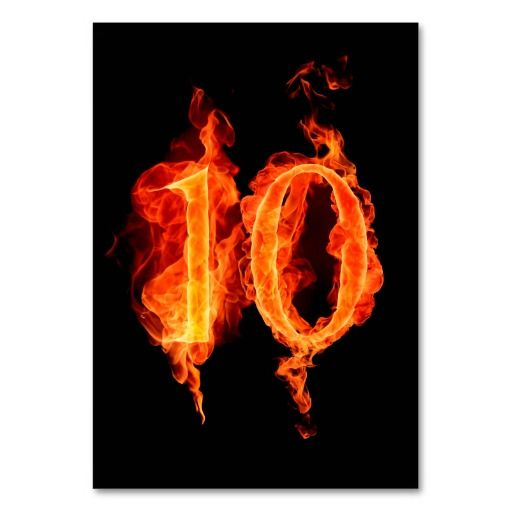 Fire Number 10 On Black Tablecard Table Cards Online After You