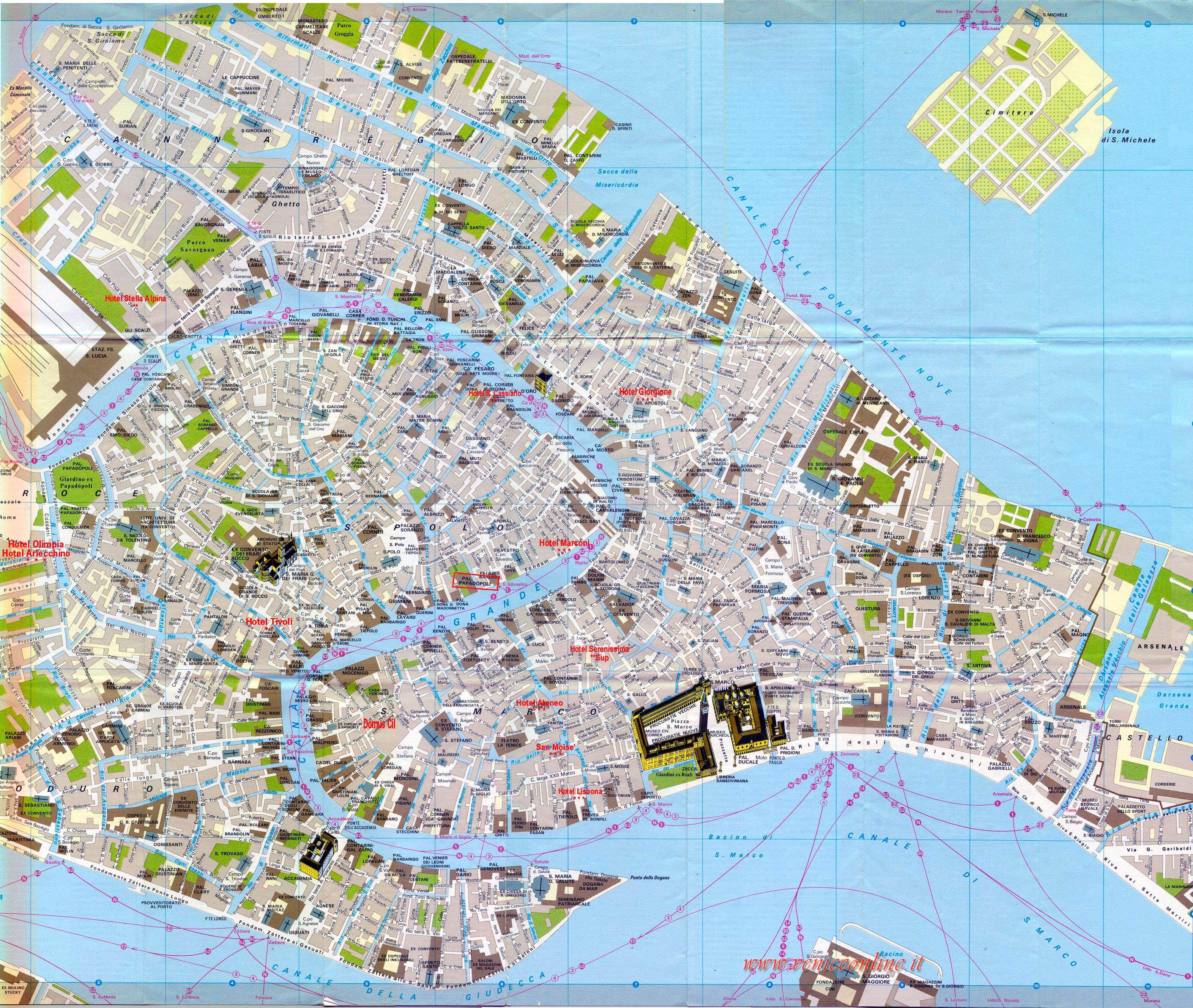 Big Map Of Venice Veniceonline Jpg 3 143 2 657 Pixels Venice Map