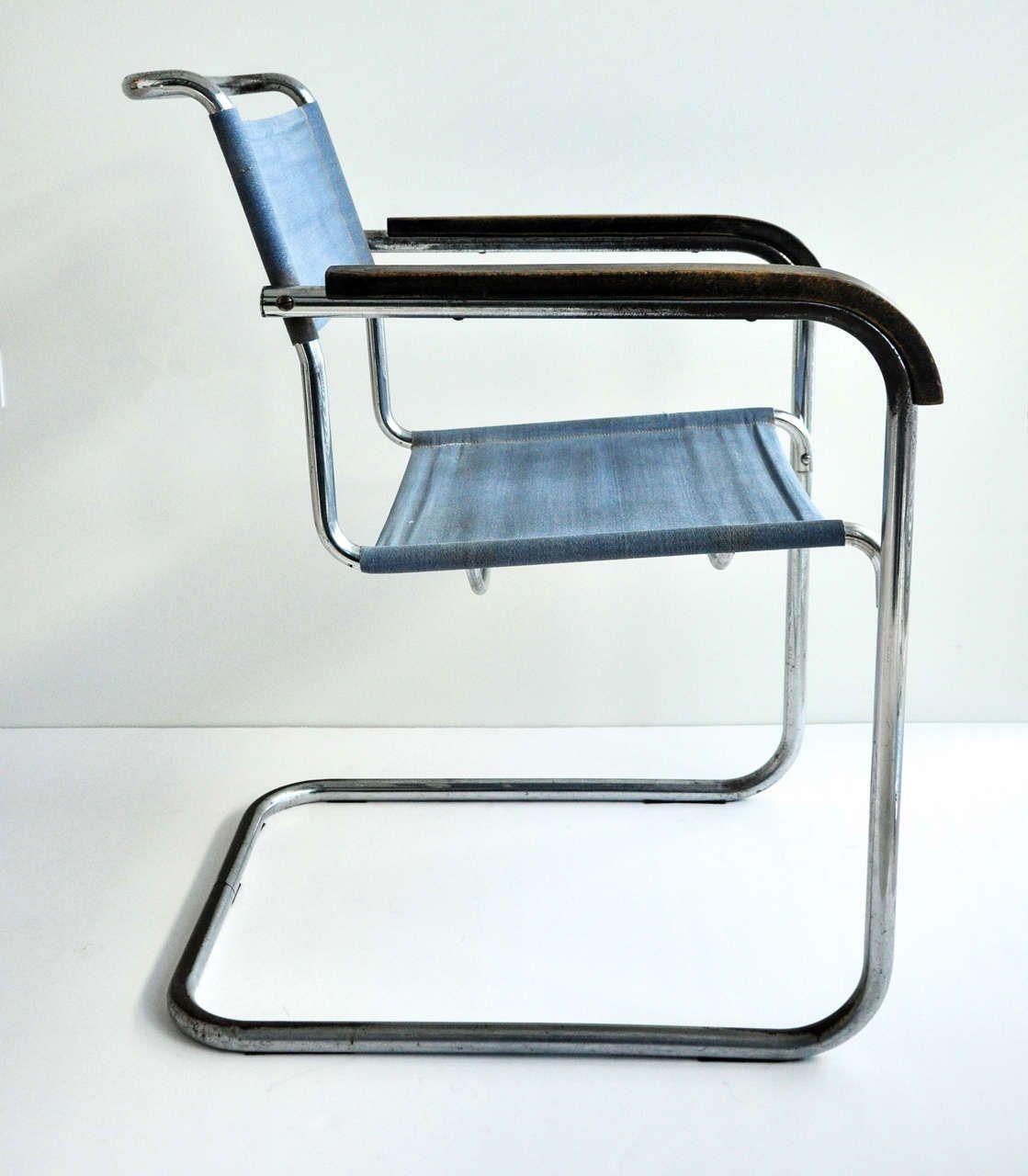 Bauhaus tubular steel lounge chair at 1stdibs - Marcel Breuer Tubular Steel Armchair For Thonet Bauhaus
