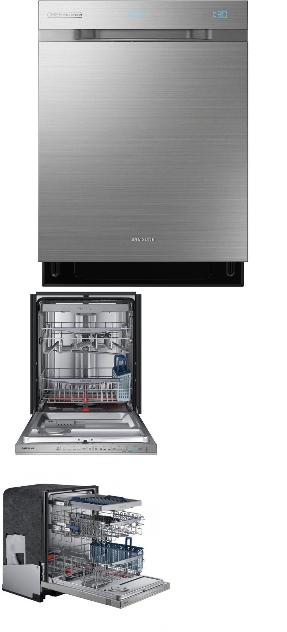 Samsung Top Of The Line Dishwasher Dw80h9970us Black Dishwasher Dishwasher White Dishwasher
