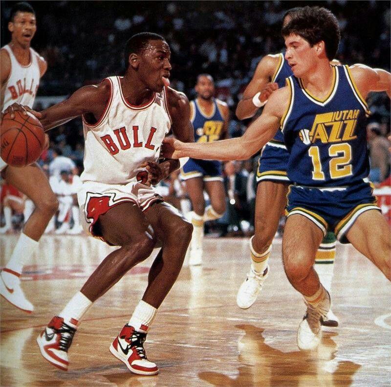 Michael Jordan vs John Stockton in his