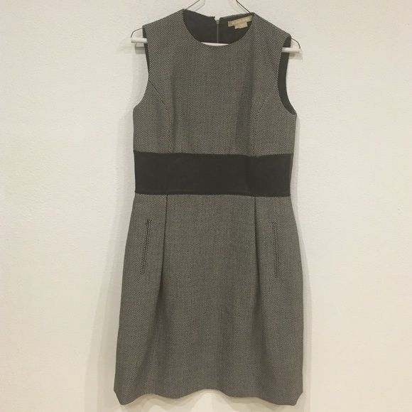 Michael Kors dress Excellent condition. Tweed with a leather waist and exposed zipper. No trades, no PayPal 0619 Michael Kors Dresses