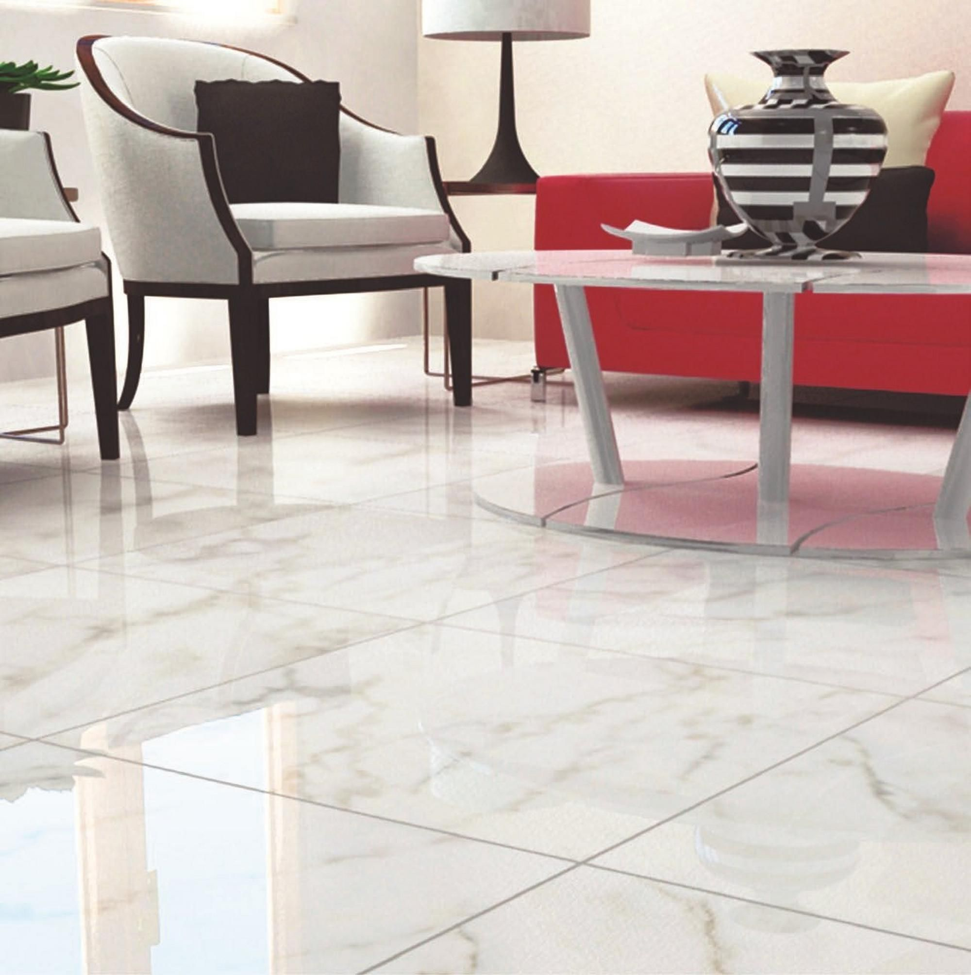 Carrara White High Gloss Ceramic Tile Floor Decor Ceramic Floor Tile Porcelain Tile Floor Living Room Ceramic Floor
