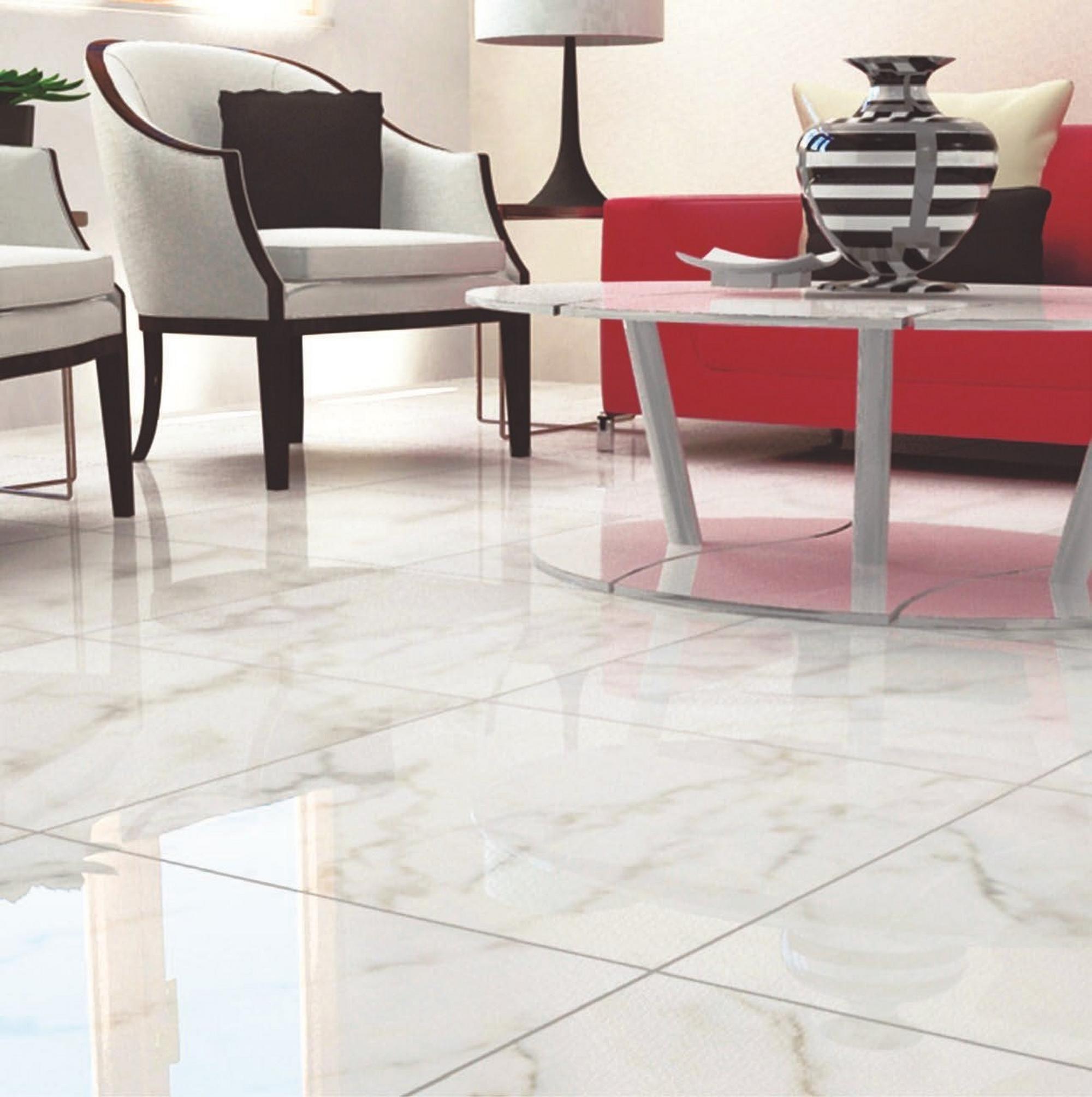 Carrara White High Gloss Ceramic Tile in 2020 Ceramic