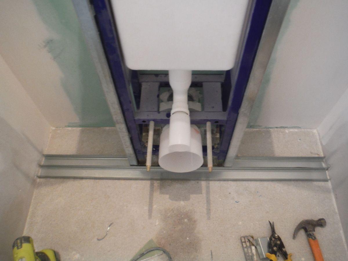 Comment Installer Toilette Suspendu faire le coffrage en placo d'un wc suspendu! | wc suspendu