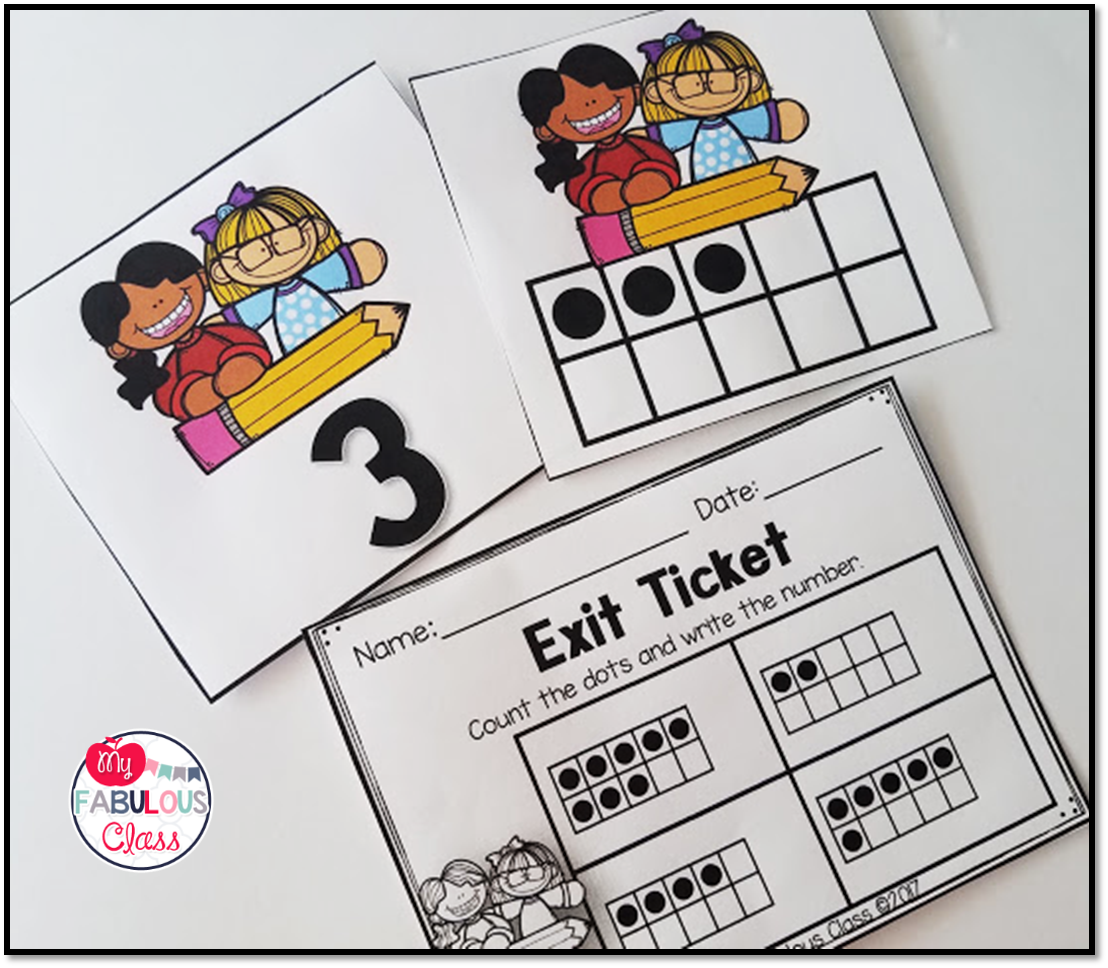 Kindergarten Back To School Math Centers Printables Exit Tickets