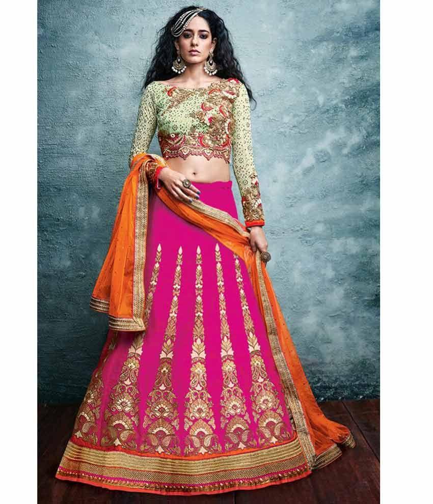 Naksh - Fabulous Rani Silk Lehenga Pista Green Embroidered Net Choli ...