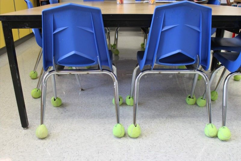 An Old Favorite Used Tennis Balls On Chair Legs To Muffle Sound