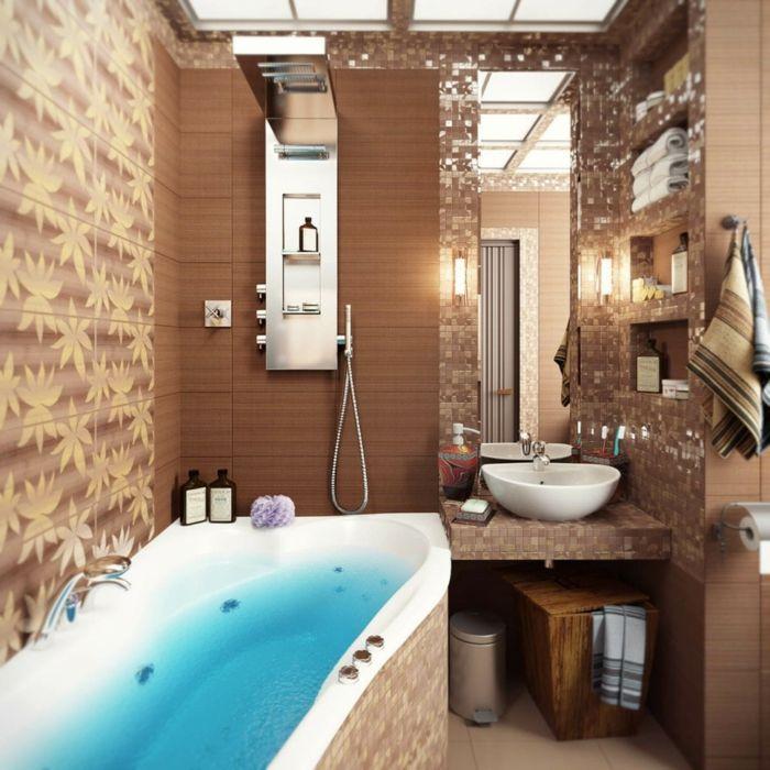 Kleines Modernes Badezimmer Mit Mosaik Gestalten