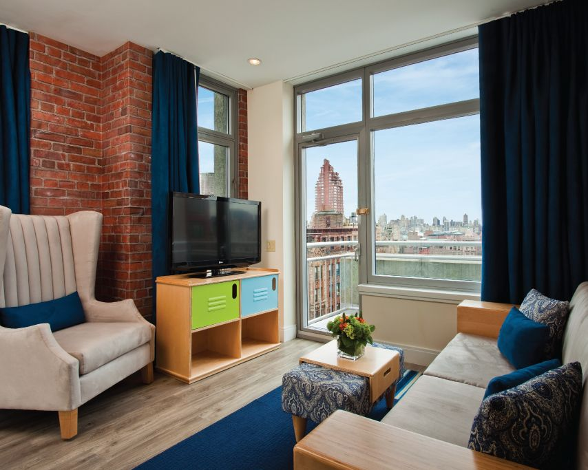 Skyline Penthouse Living Area The Suite Includes A