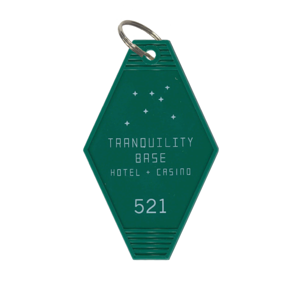 Get All Three Colors Of The Tranquility Base Hotel Casino Key Ring For A Special Discounted Price Black Creme Green Arctic Monkeys Hotel Tranquility