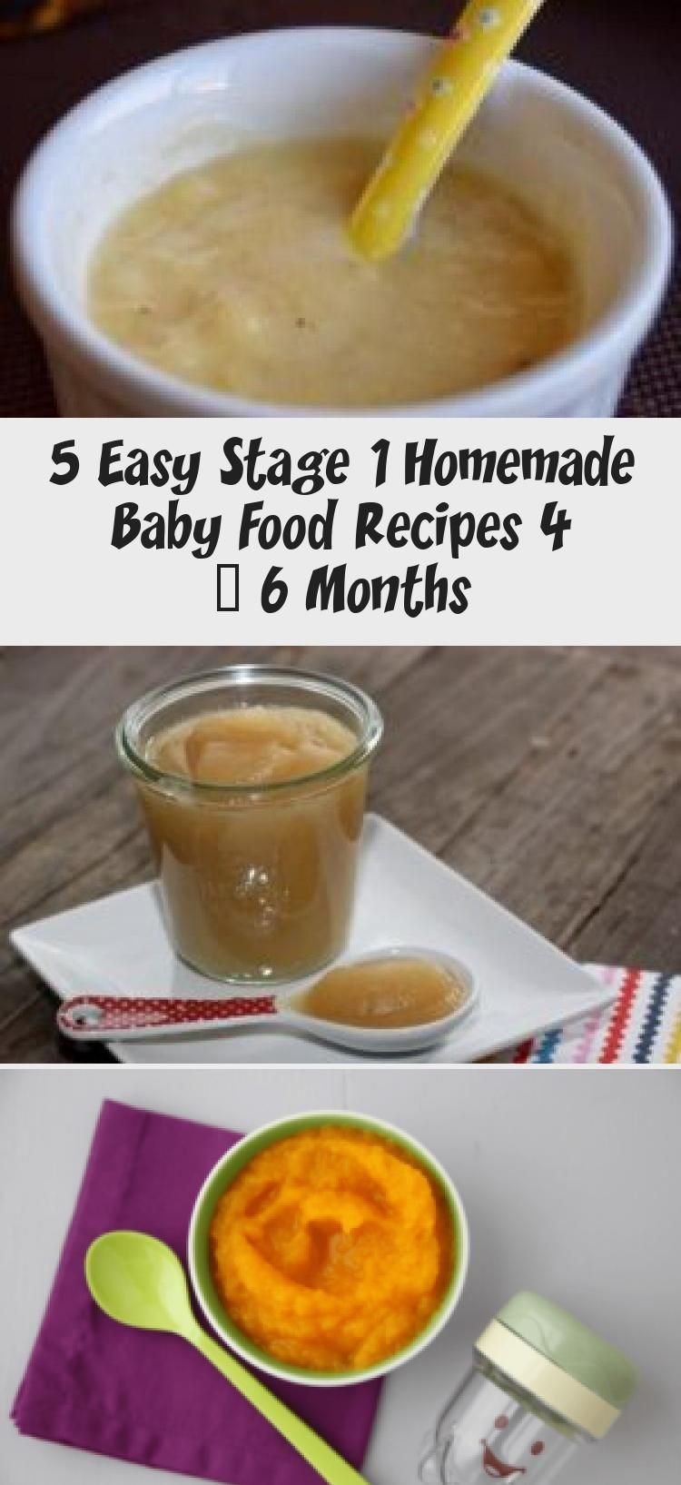 5 Easy Stage 1 Homemade Baby Food Recipes 4 - 6 Months ...