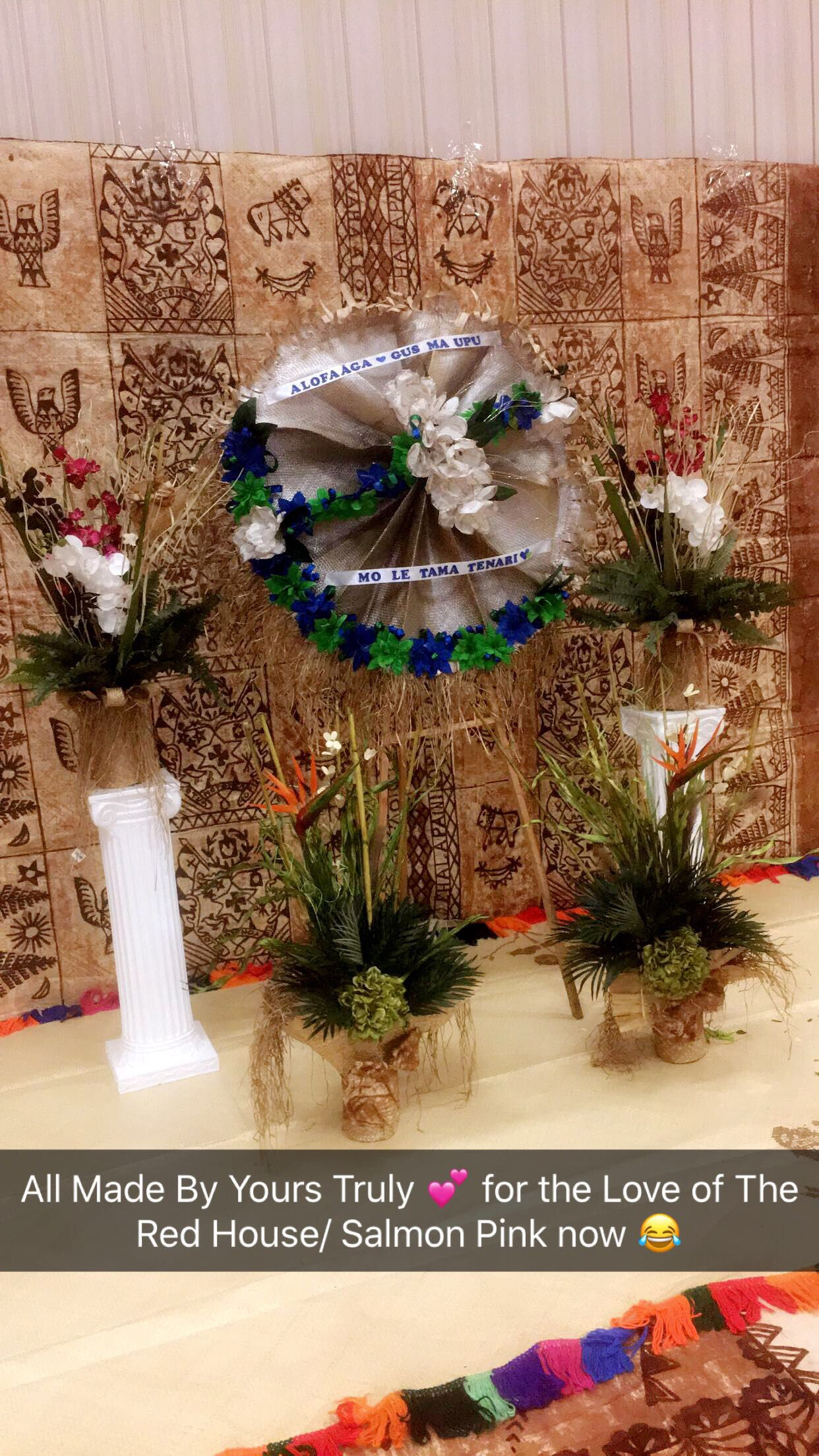 Samoan Funerals Samoan Faalavelave S Table Decorations Home