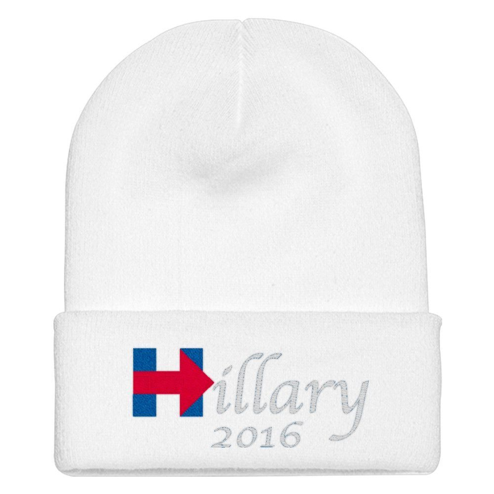 Hillary Clinton 2016 Embroidered Knit Cap