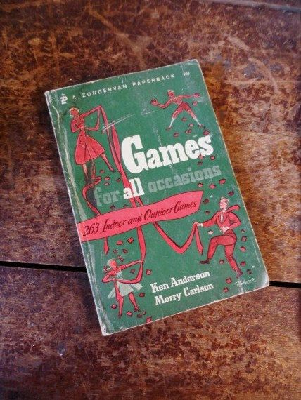 1967 GAMES For All Occasions- 263 Indoor and Outdoor Games- Ken Anderson- Morry Carlson- A Zondervan Paperback- Zondervan Publishing-Vintage by OrphanedTreasure on Etsy
