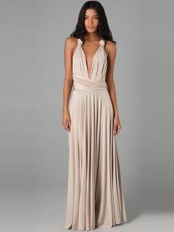 078a2f3ff6 A-Line Princess Sleeveless Pleats Floor-Length Jersey Dresses
