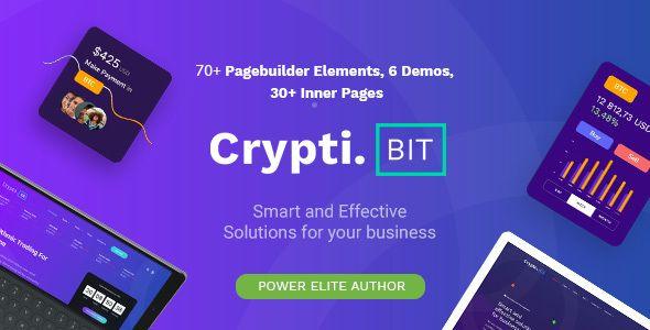 CryptiBIT — Technology, Cryptocurrency, ICO/IEO Landing Page WordPress theme