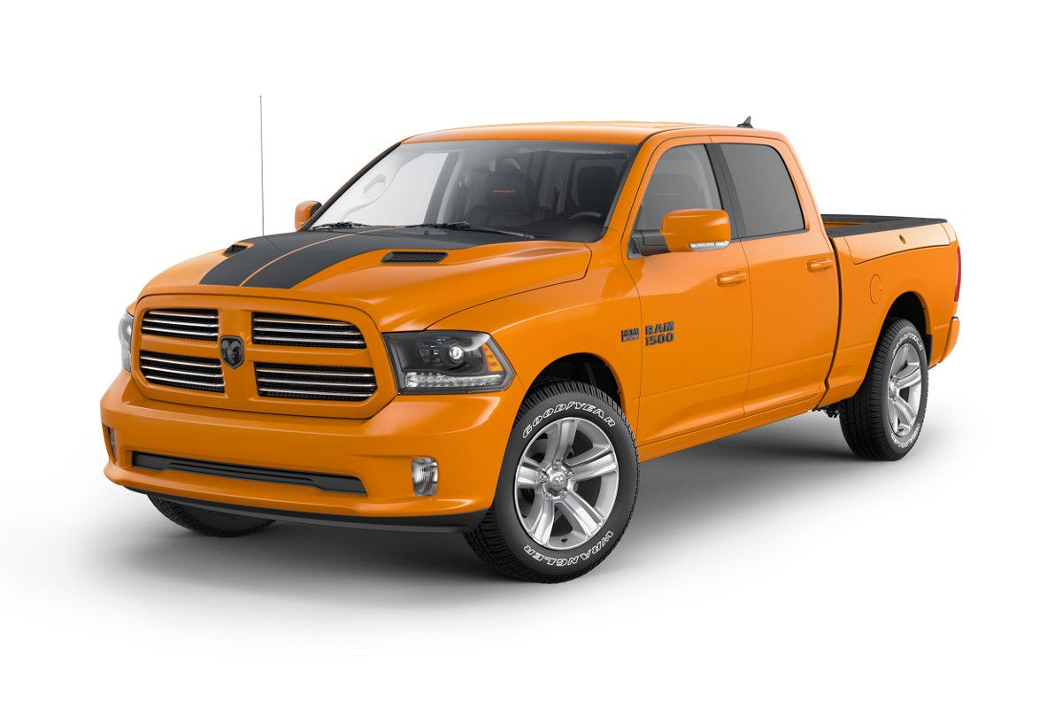 2015 Ram Sport in Ignition Orange Ram trucks, Ram 1500