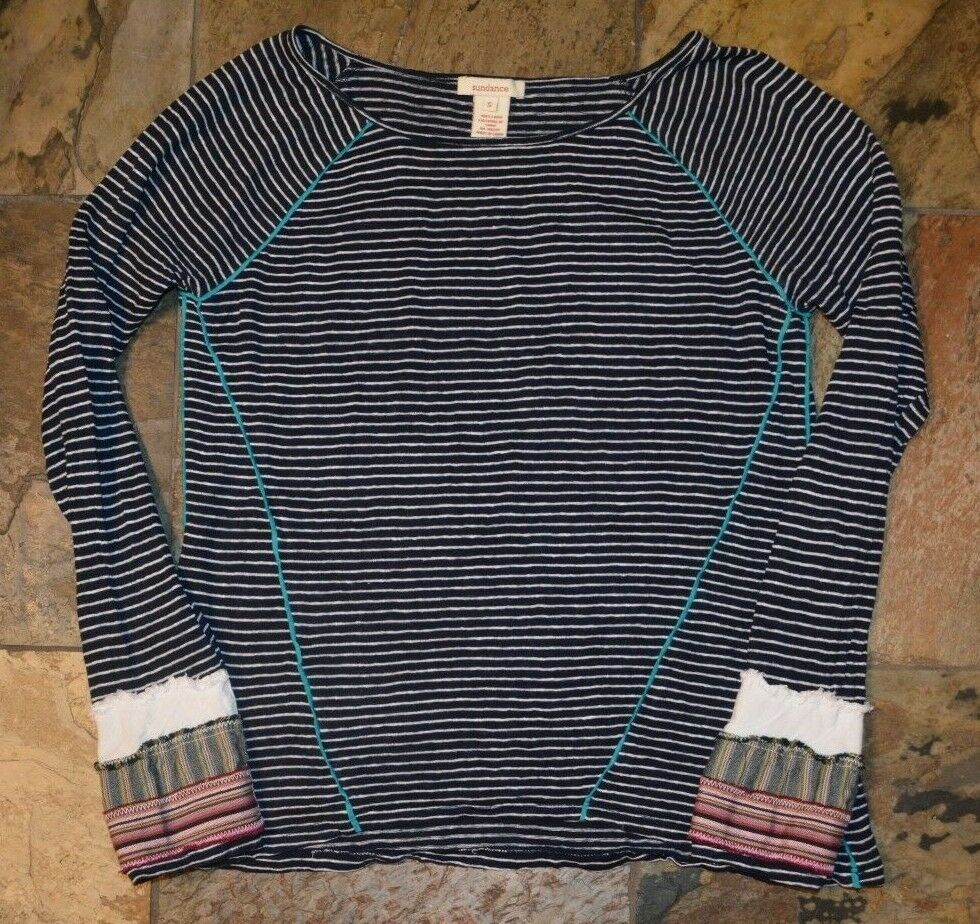 293cbe05 Womens' SUNDANCE Navy Blue Striped 100% Linen Shirt Top Size Small #fashion  #clothing #shoes #accessories #womensclothing #tops (ebay link)