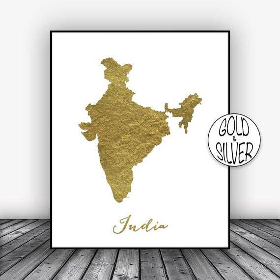 Carte De Linde A Imprimer.L Inde Impression Inde Art Print Or Wall Decor Inde Carte