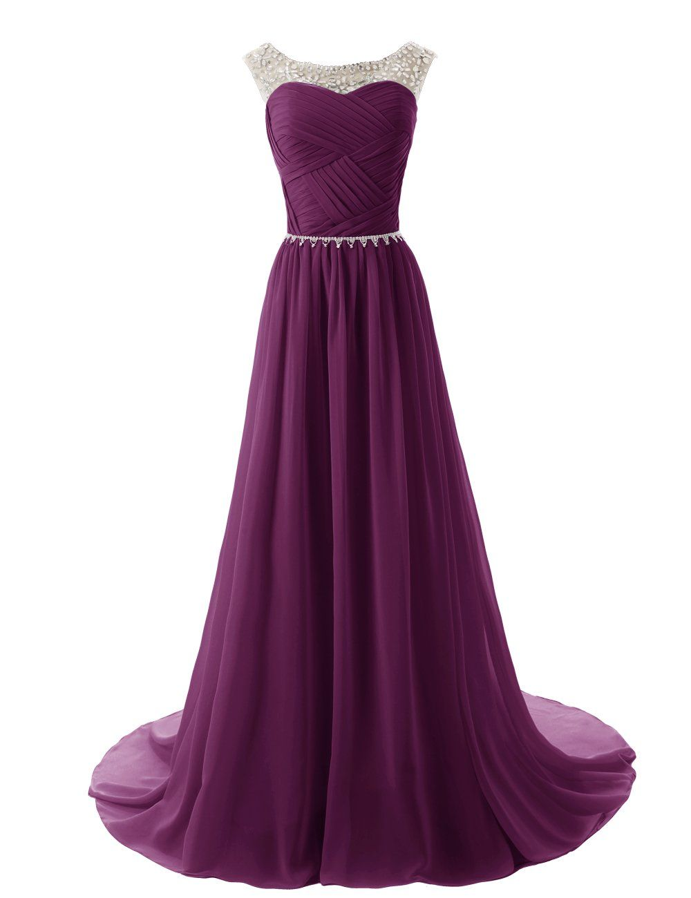 Dressystar Beaded Straps Bridesmaid Prom Dresses with Sparkling ...