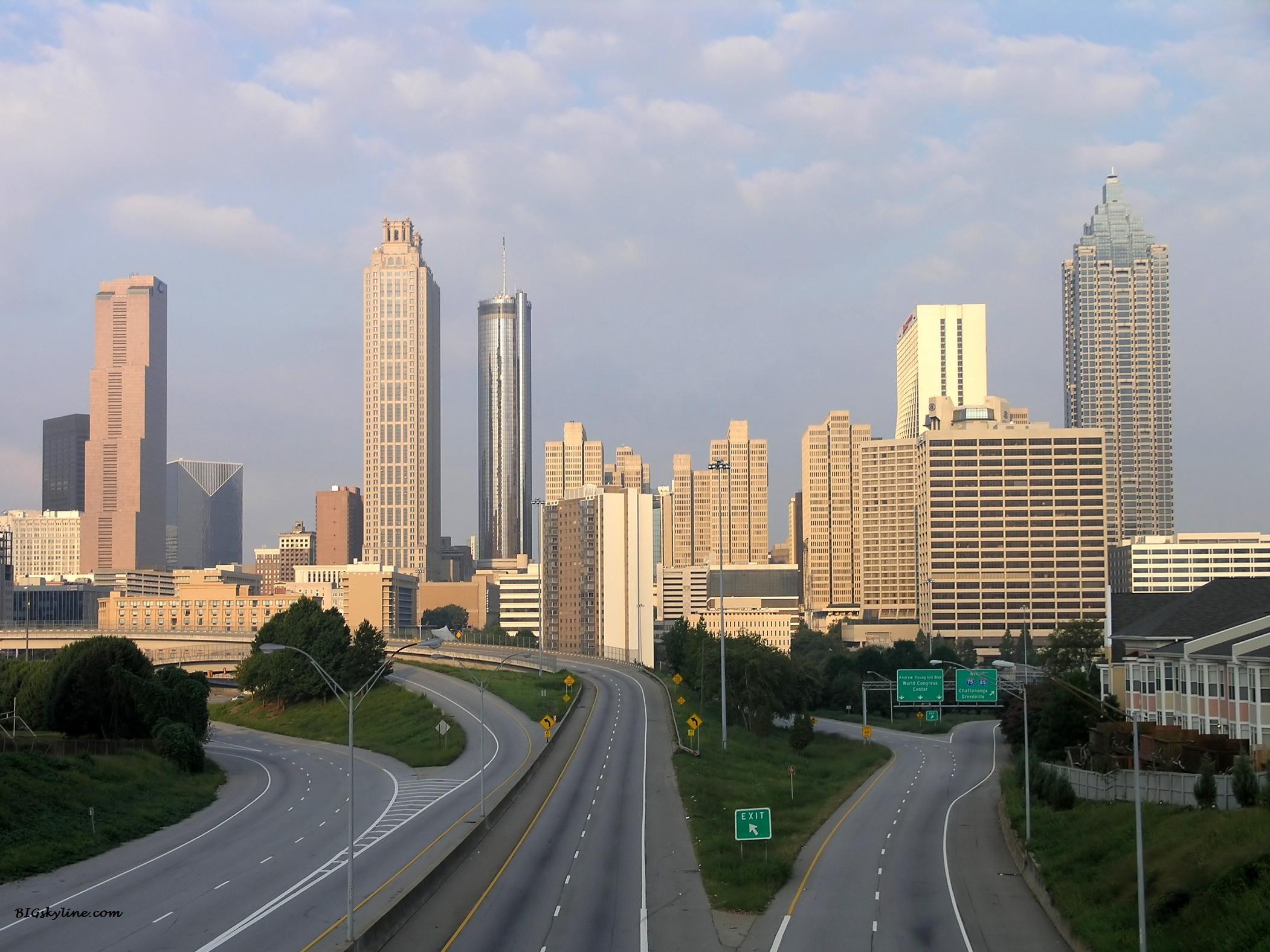 Atlanta Skyline In Georgia United States Of America American - Is georgia in the united states