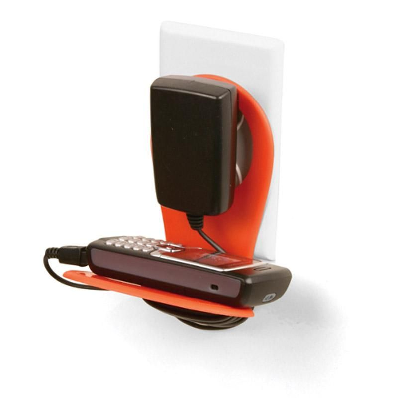 Driinn Cell Phone Holder Charger Mobile Wall Organizer Office Black Green Orange