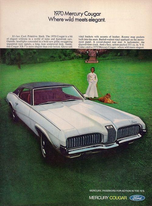 Cougar Vintage September 2013: 1970 Mercury Cougar Advertisment. …