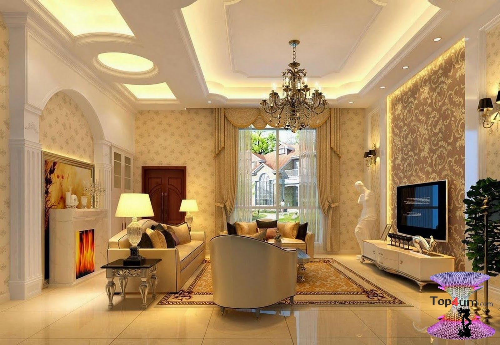 افضل ديكورات جبس اسقف راقيه 2019 Modern Gypsum Board For Walls And Ceilings Next Living Room Corner Sofa Design Living Room Designs