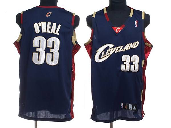 02b945633713 Cleveland Cavaliers  33 Shaquille O Neal Stitching Navy Blue NBA Jersey