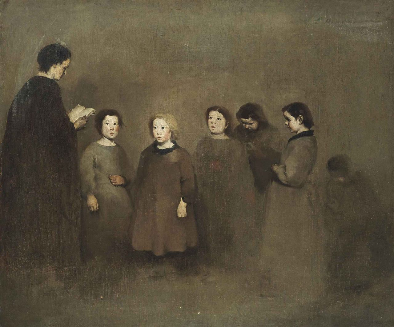 A Lesson At Bracquemont Theodule Augustin Ribot