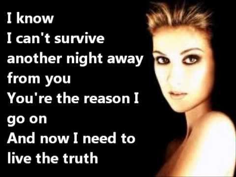 Celine Dion I Surrender Lyrics I Surrender Lyrics Celine Dion Soundtrack Songs
