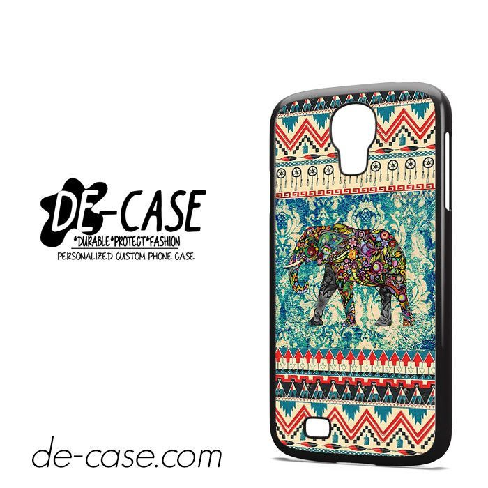 Aztec Blue Floral Elephant DEAL-1237 Samsung Phonecase Cover For Samsung Galaxy S4 / S4 Mini